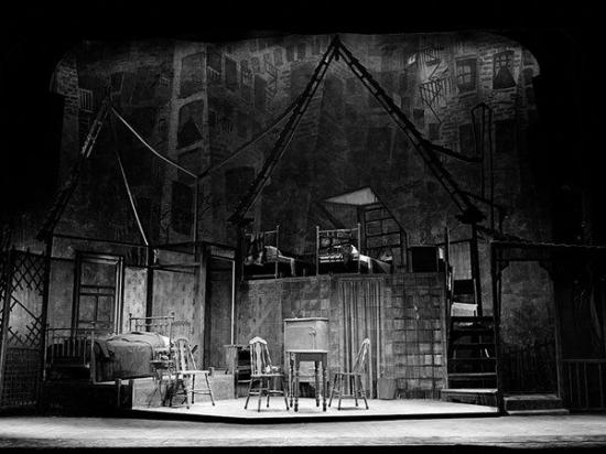 מותו של סוכן תפאורת ההפקה הראשונה 1949